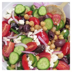 BALSAMIC CHICKPEA SUMMER SALAD