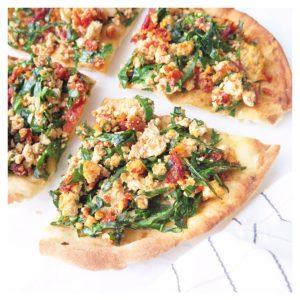 SIMPLE VEGAN PITA PIZZA